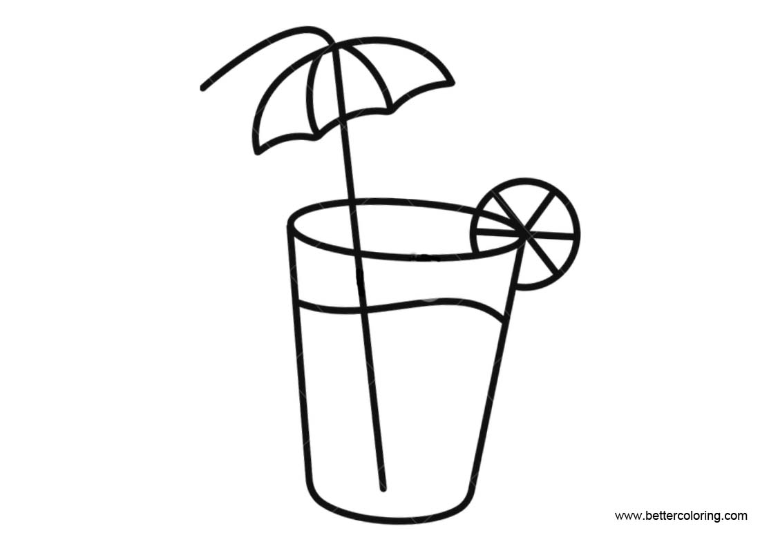 Free Lemonade Coloring Pages Line Art printable