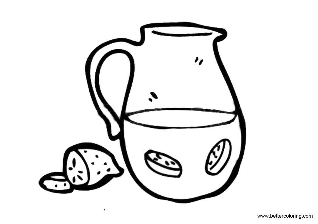Free Lemonade Coloring Pages Sketch printable