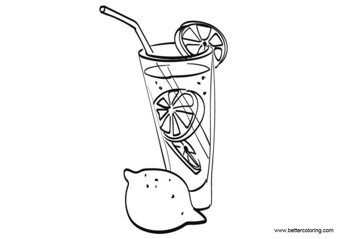 Free Lemonade Coloring Pages and Lemon printable