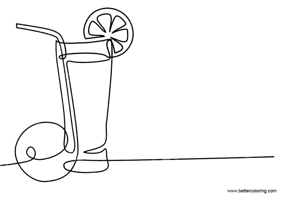 Free Lemonade Coloring Pages printable