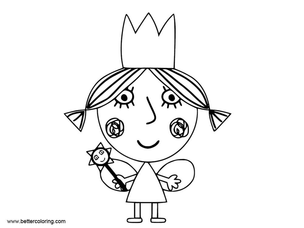 Little Girl from Ben And Holly Coloring Pages - Free ...