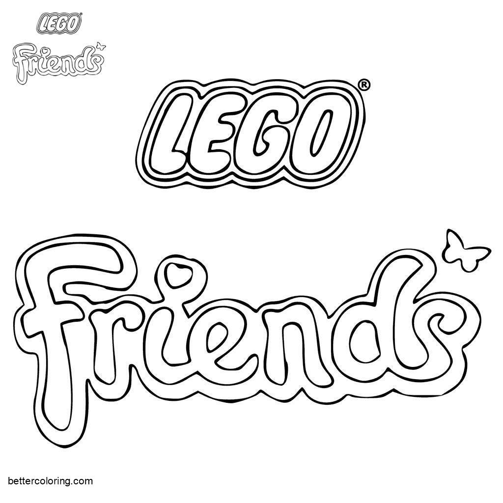 Free Logo of LEGO Friends Coloring Pages printable