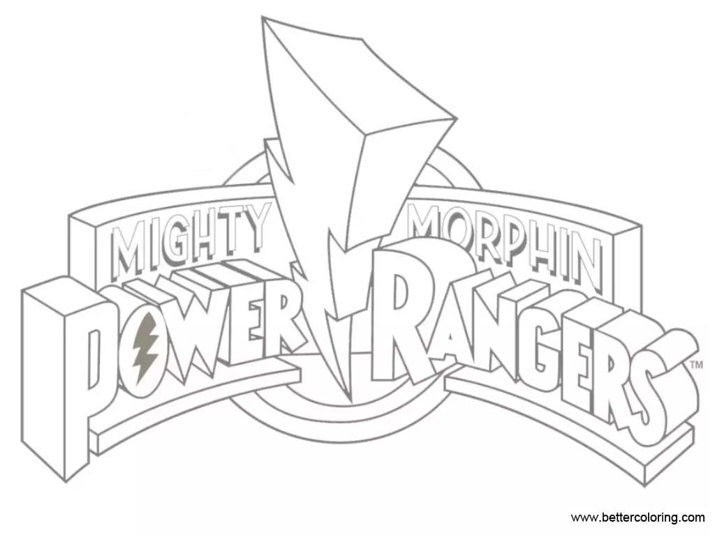 logo of mighty morphin power rangers coloring pages free printable