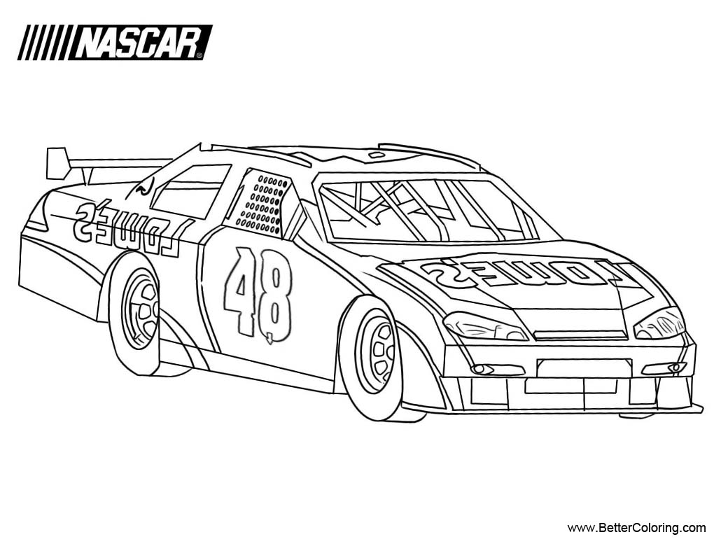free lowes nascar coloring pages printable for kids and adults