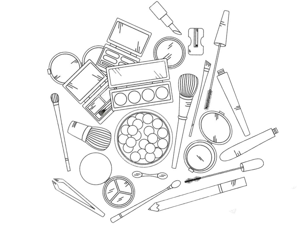 Free Makeup Coloring Pages Beauty Products printable