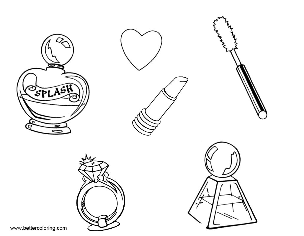 Makeup Coloring Pages With Heart