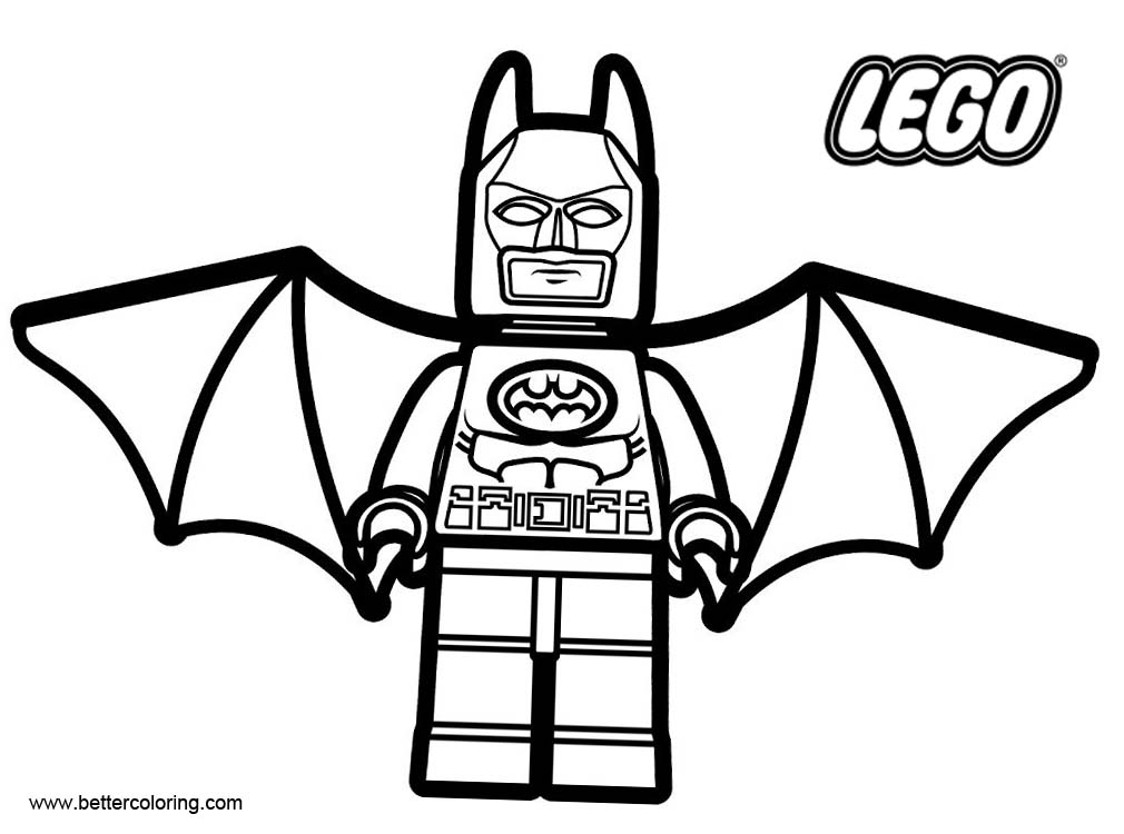 Marvel Batman from LEGO Superhero Coloring Pages Free