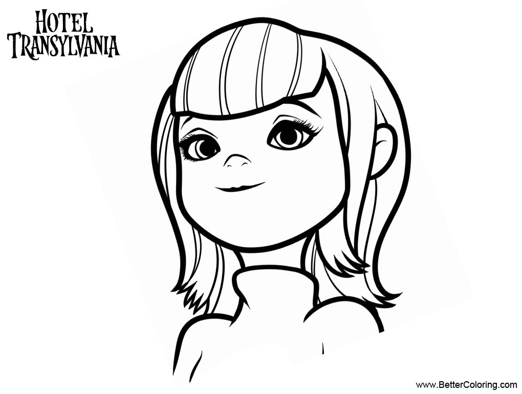 hotel transylvania coloring pages free | Mavis from Hotel Transylvania Coloring Pages - Free ...