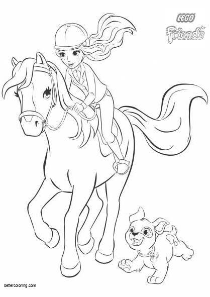 Free Mia from LEGO Friends Coloring Pages printable
