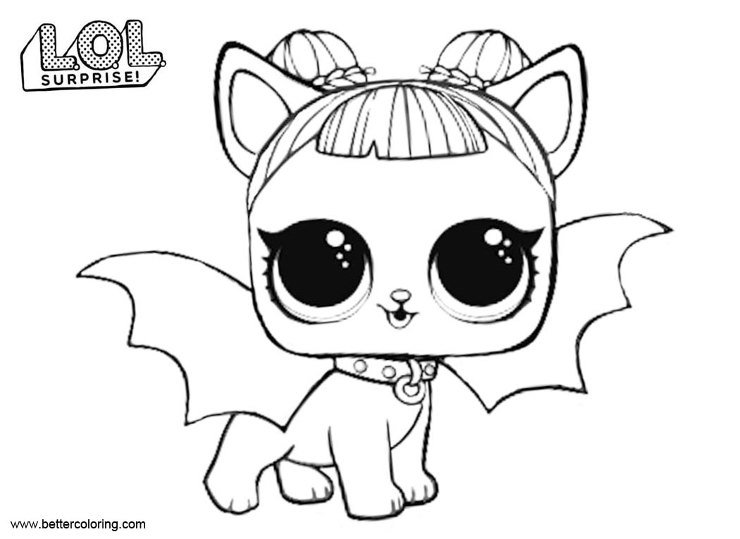 Free Midnight Pup from LOL Pets Coloring Pages printable