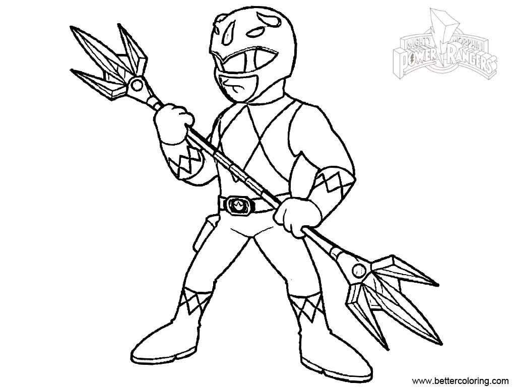 Mighty Morphin Power Rangers Coloring Pages Line Drawing
