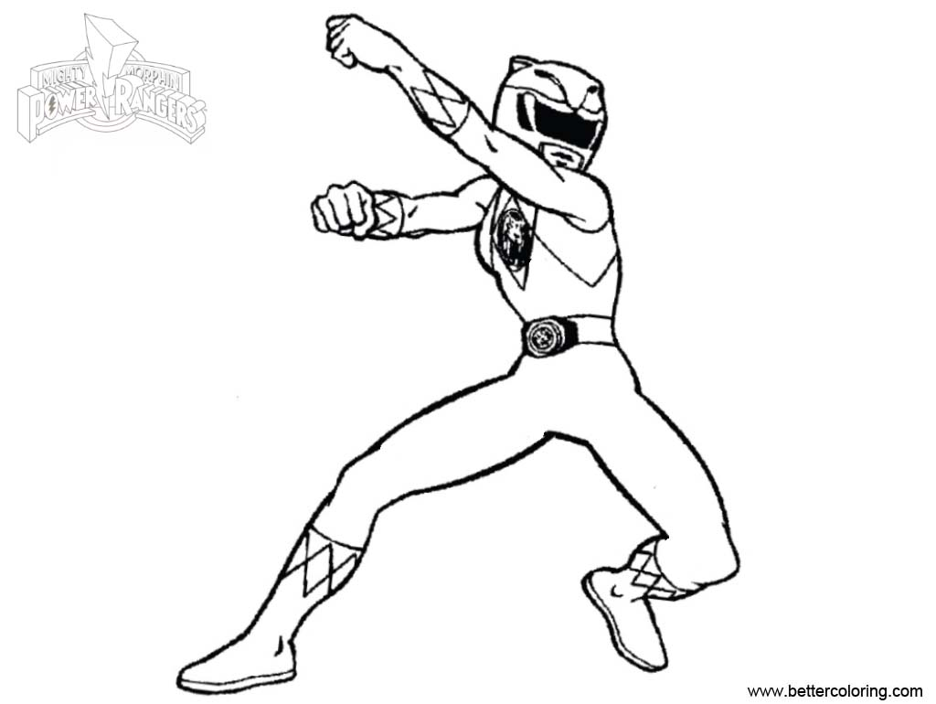 Free Mighty Morphin Power Rangers Coloring Pages Super Hero printable