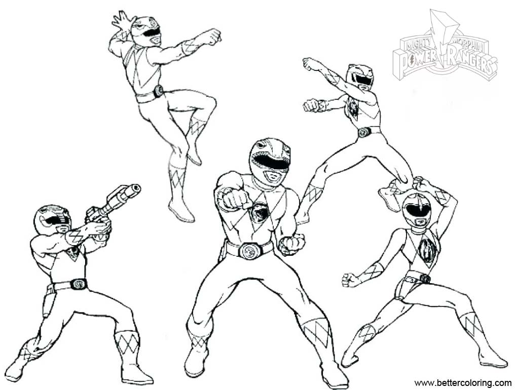 Mighty Morphin Power Rangers Coloring Pages Free Printable
