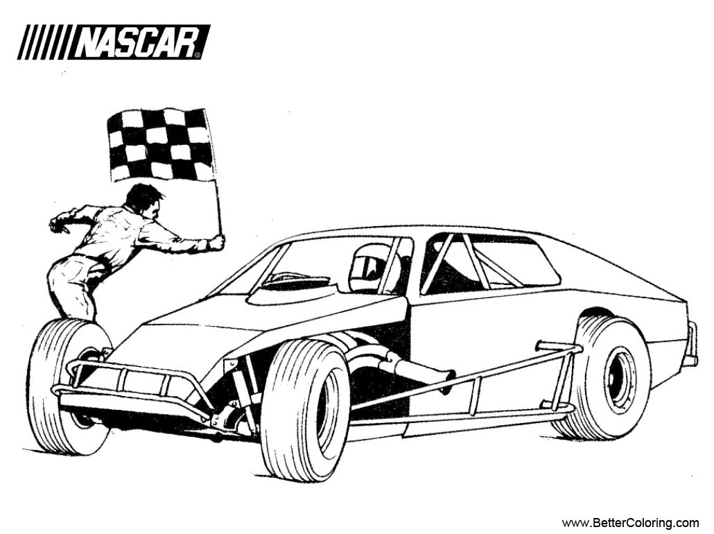 Free Modified Nascar Coloring Pages printable