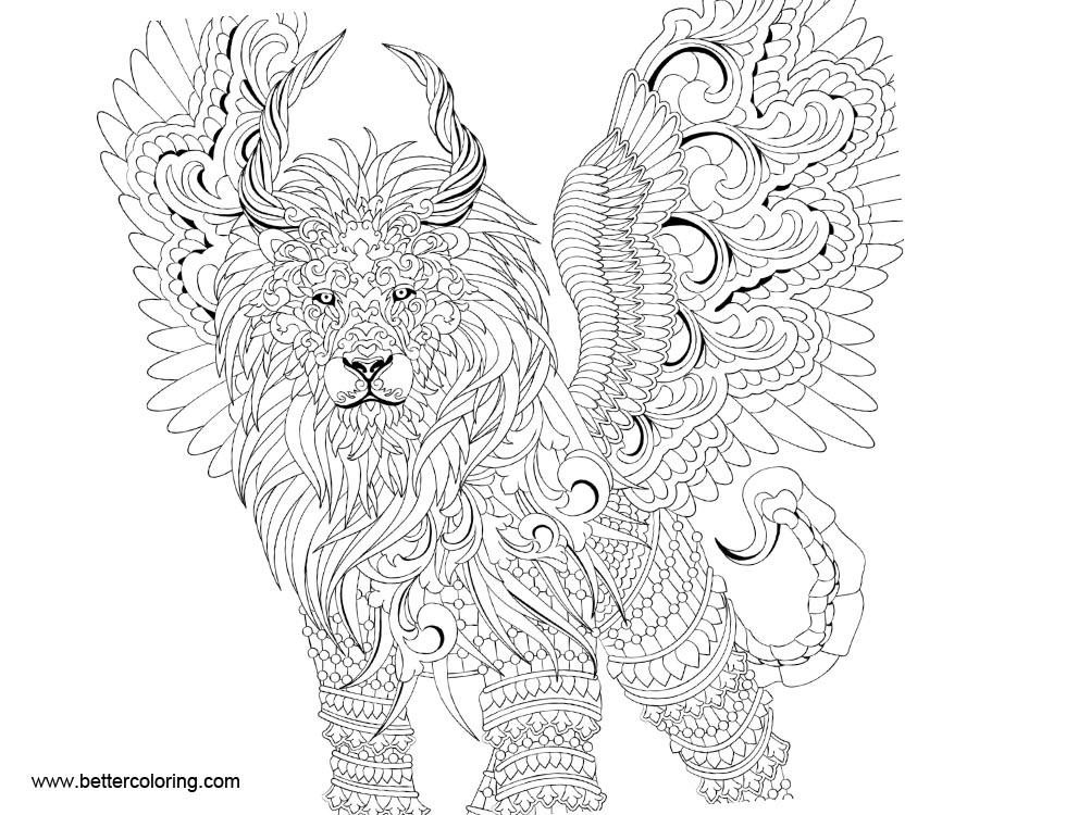 Free Mythomorphia Coloring Pages Black and White printable