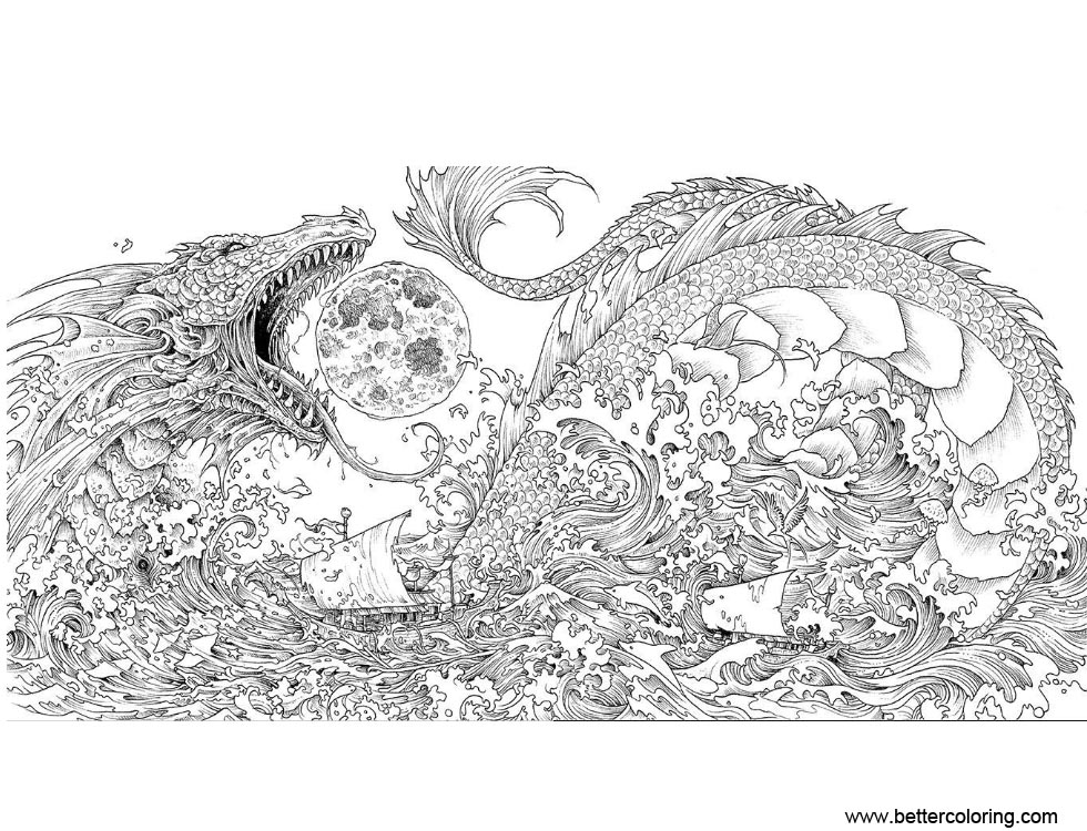 Free Mythomorphia Coloring Pages Dragon printable