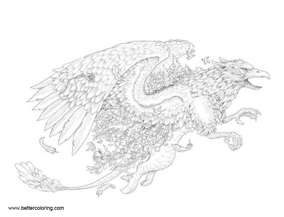 Free Mythomorphia Coloring Pages Eagle printable