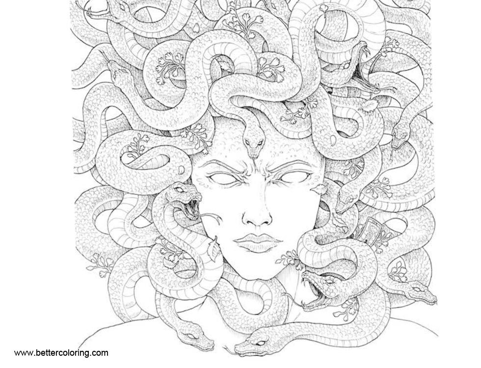 Free Mythomorphia Coloring Pages Gorgon printable