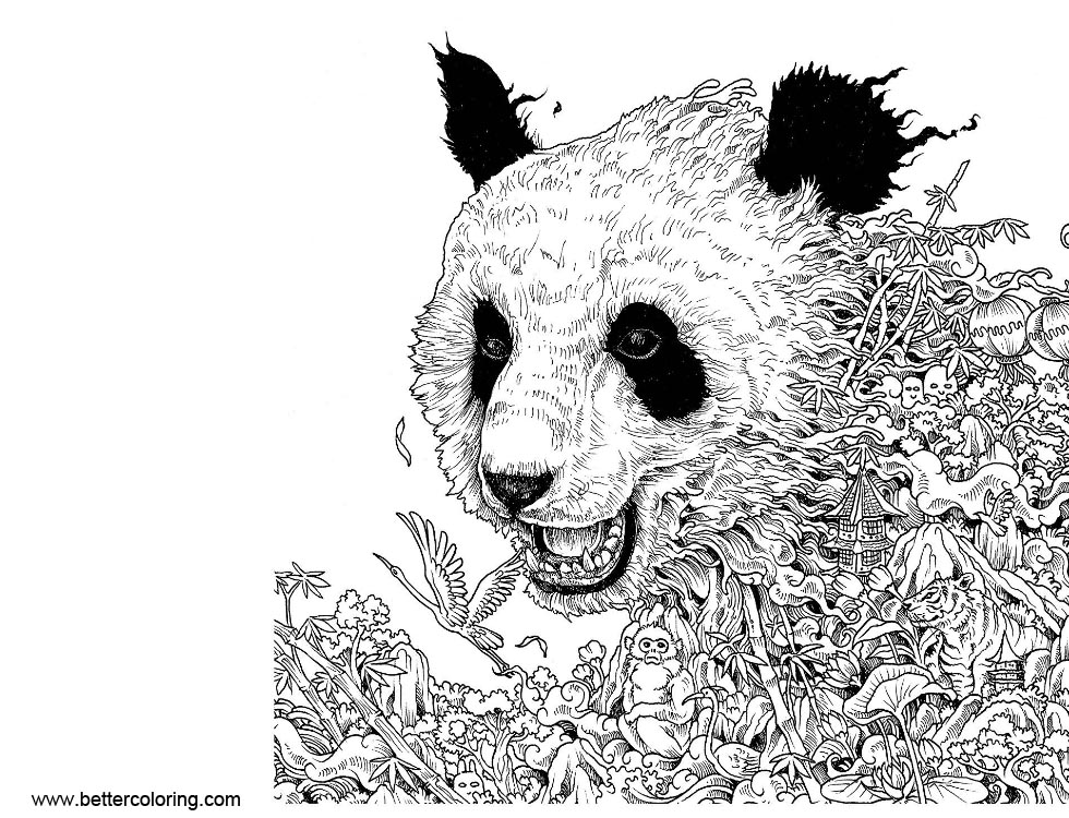 Free Mythomorphia Coloring Pages Panda printable