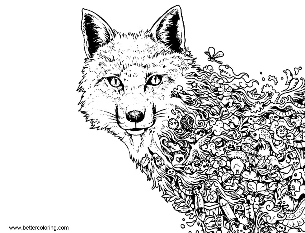 Mythomorphia Coloring Pages Wolf Free Printable Coloring Pages