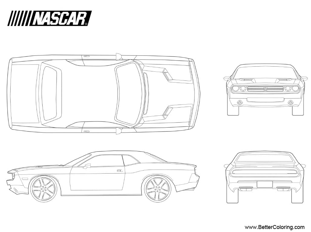 Free Nascar Coloring Pages 1970 Dodge Challenger printable