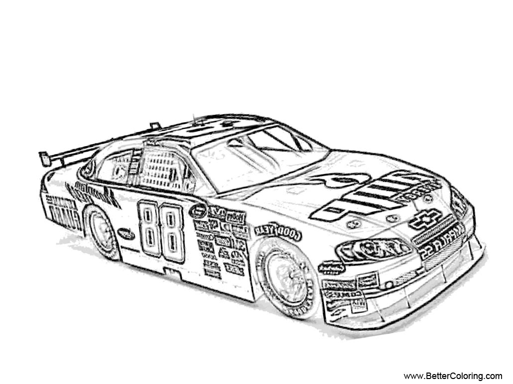 Nascar Coloring Pages Black and White - Free Printable ...