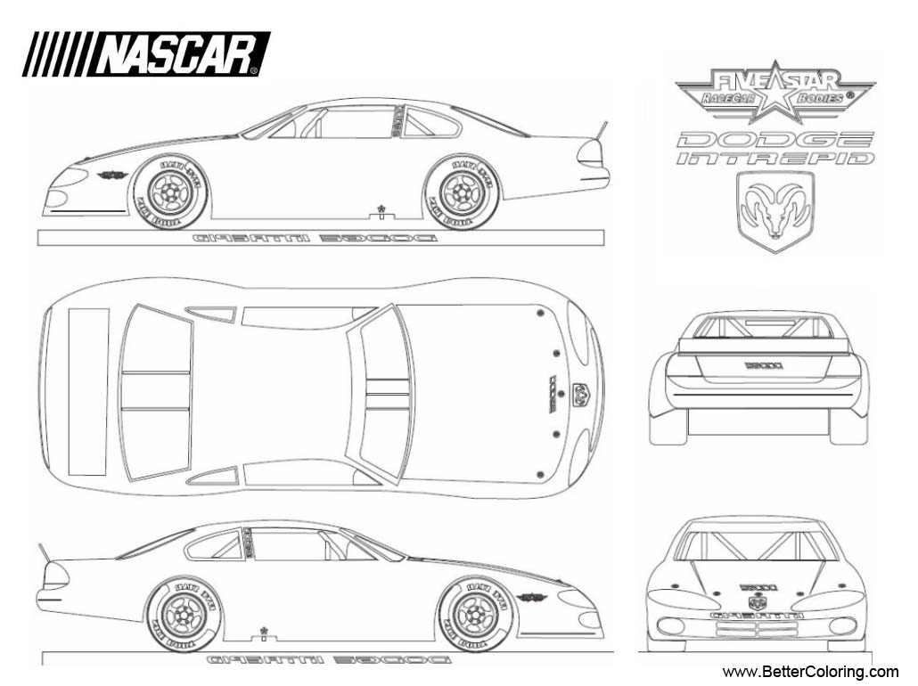 Nascar Coloring Pages Dodge Intrepid - Free Printable ...
