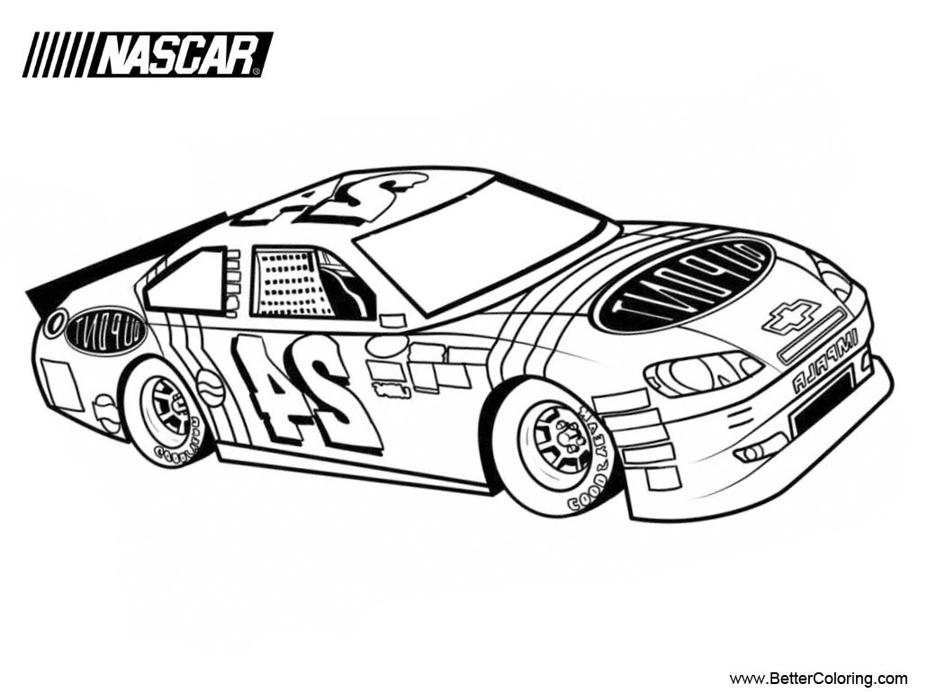nascar printable coloring pages - photo#14