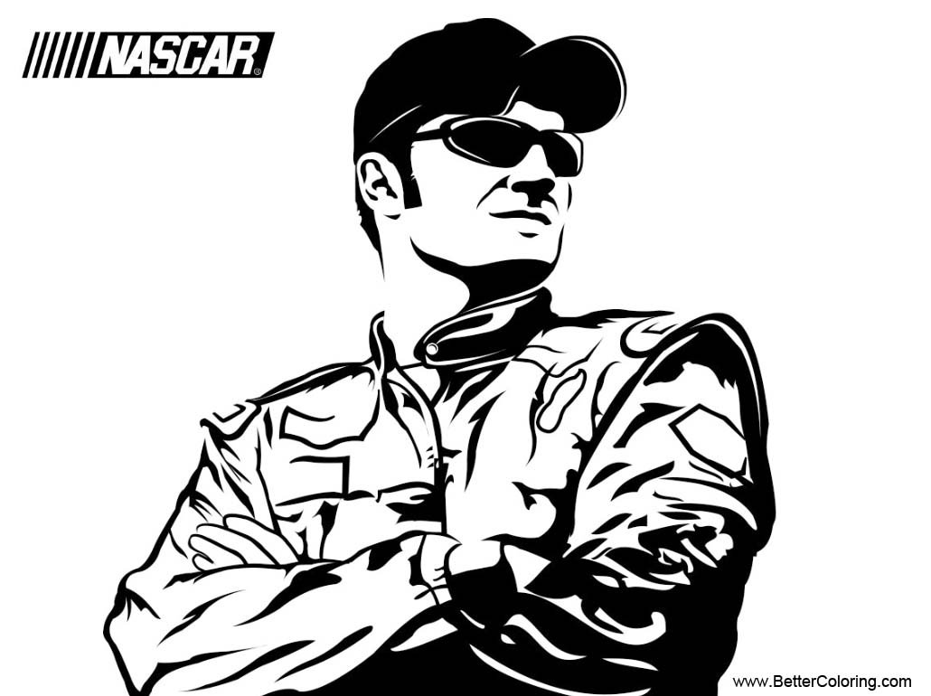 Free Nascar Coloring Pages Driver printable