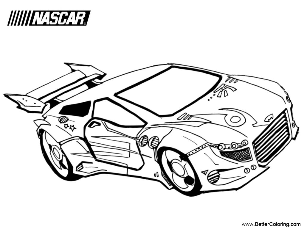 Free Nascar Coloring Pages Hand Work printable