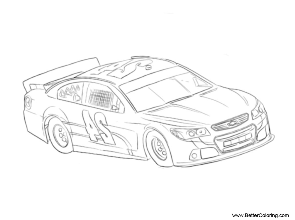 Free Nascar Coloring Pages Line Art printable