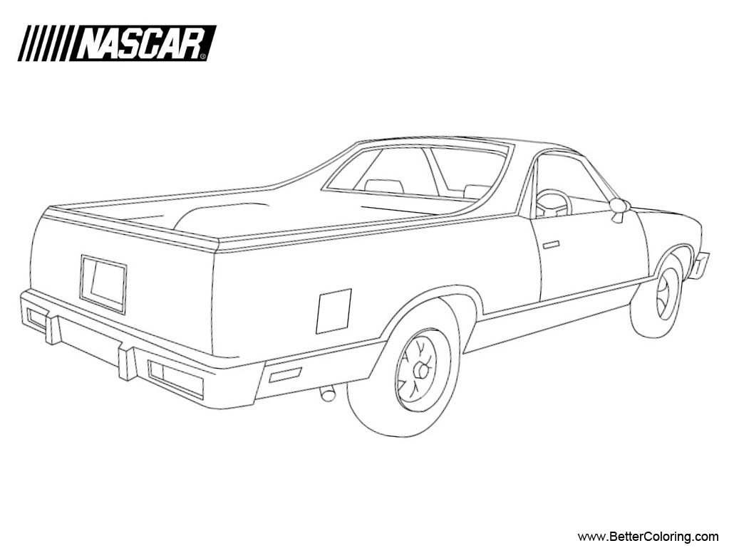 Free Nascar Coloring Pages Linear printable