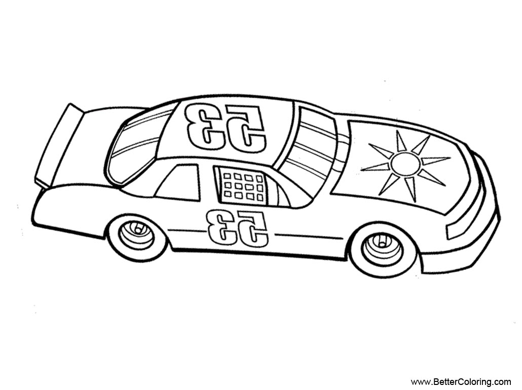 free nascar coloring pages number 53 printable for kids and adults