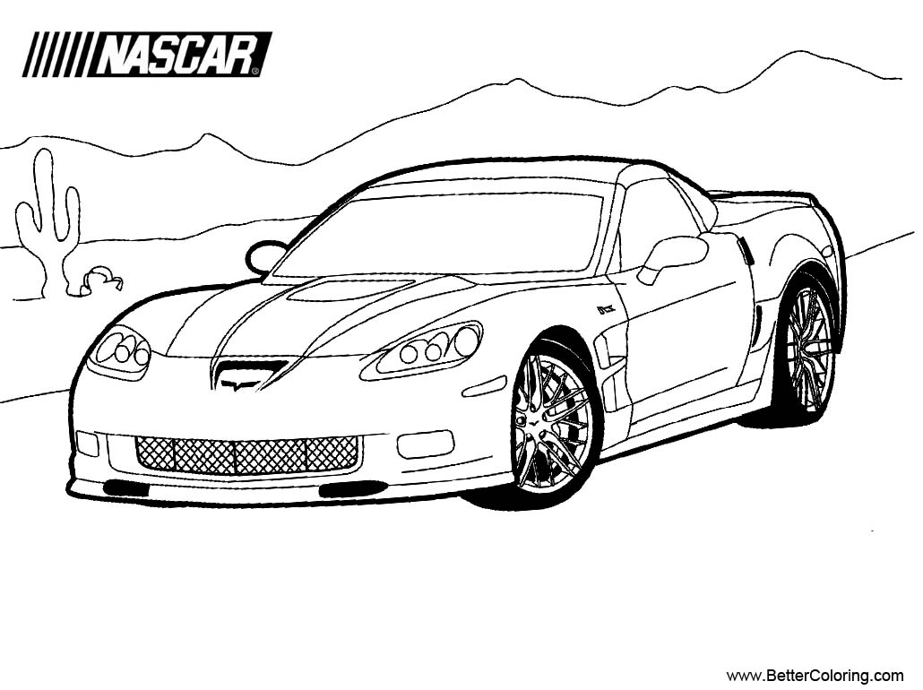 Nascar Coloring Pages Running in Desert - Free Printable ...