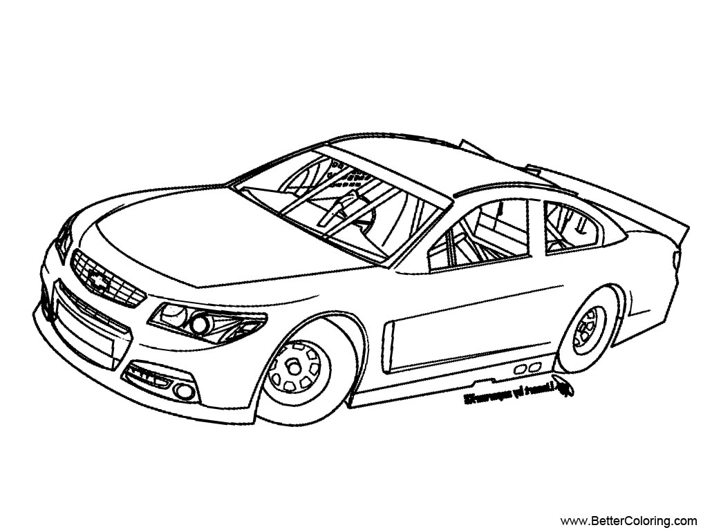Nascar Coloring Pages Sketch - Free Printable Coloring Pages