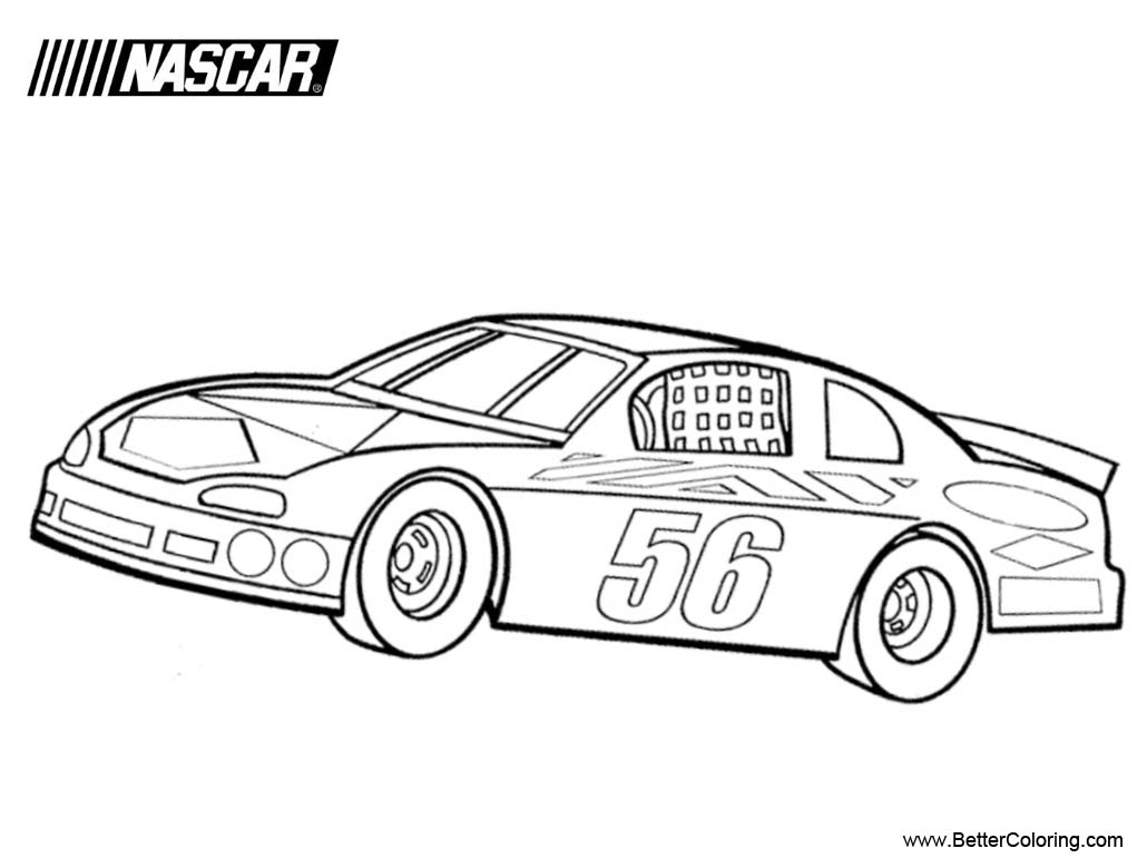 Nascar Coloring Pages Free Printable Coloring Pages