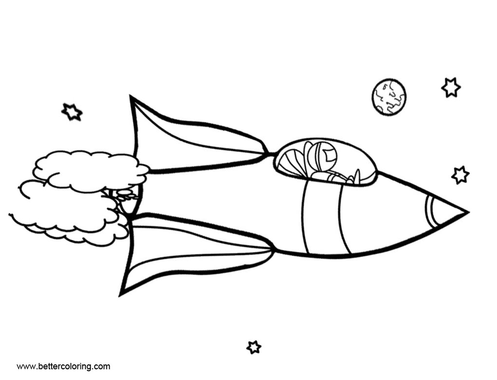 Outspace Rocket Ship Coloring Pages