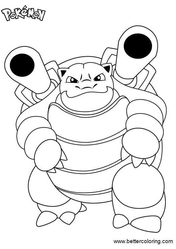 Pokemon Coloring Pages Blastoise - Free Printable Coloring ...