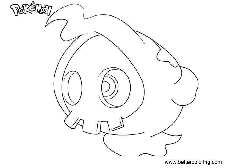 Free Pokemon Coloring Pages Duskull printable