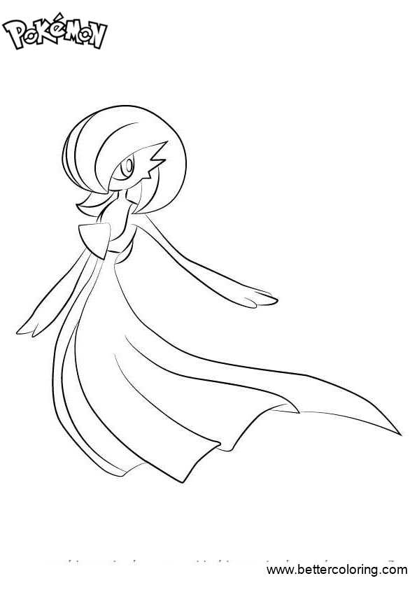 Free Pokemon Coloring Pages Gardevoir printable