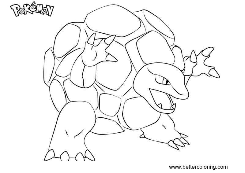 Free Pokemon Coloring Pages Golem printable