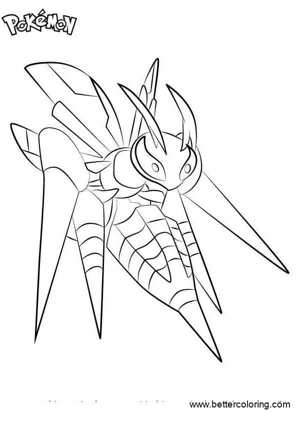 Free Pokemon Coloring Pages Mega Beedrill printable