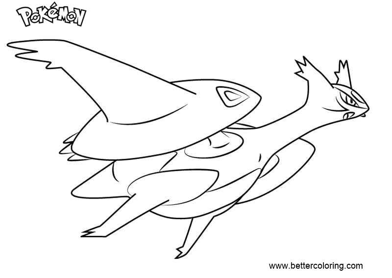 free pokemon coloring pages mega latios printable for kids and adults