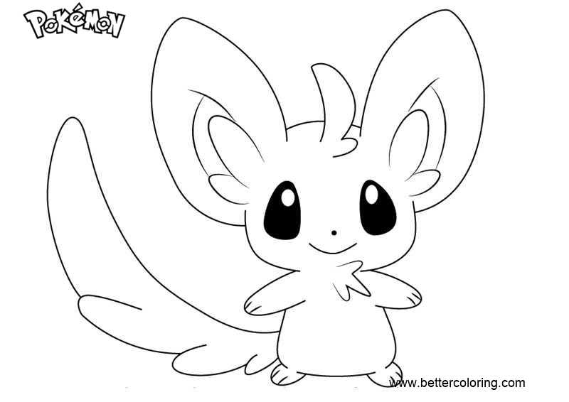 Free Pokemon Coloring Pages Minccino printable