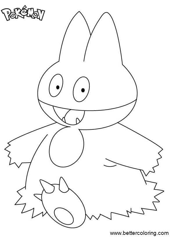 Free Pokemon Coloring Pages Munchlax printable