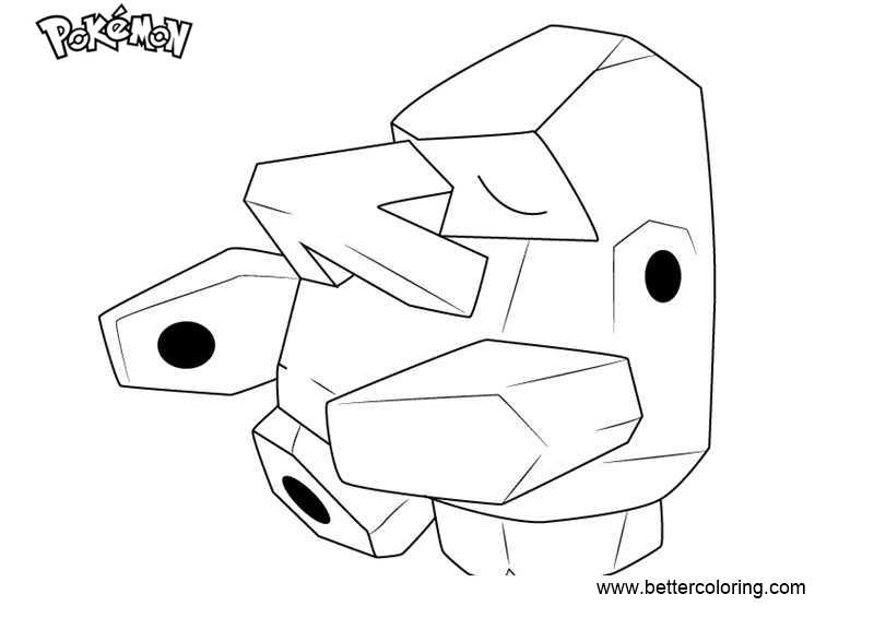 Free Pokemon Coloring Pages Nosepass printable