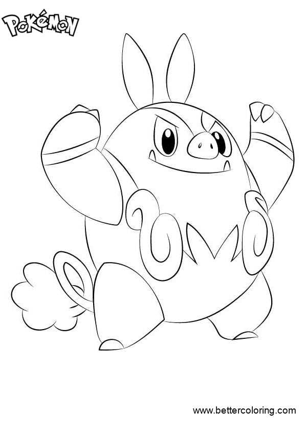 Free Pokemon Coloring Pages Pignite printable