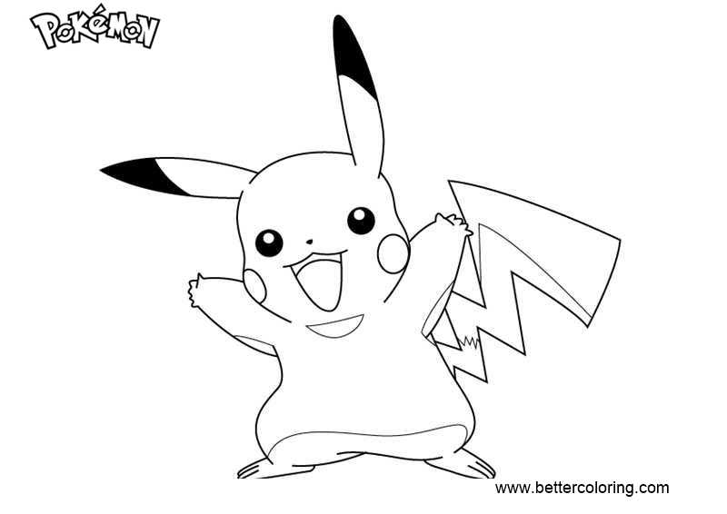 pikachu printable coloring pages - pokemon coloring pages pikachu free printable coloring pages