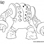 Pokemon Coloring Pages Regigigas