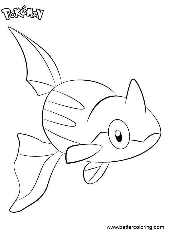 Free Pokemon Coloring Pages Remoraid printable